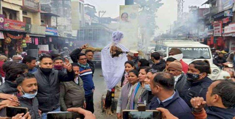 महंगाई के मुद्दे पर कांग्रेस का जिला और शहर मुख्यालयों में  सरकार के खिलाफ विरोध-प्रदर्शन