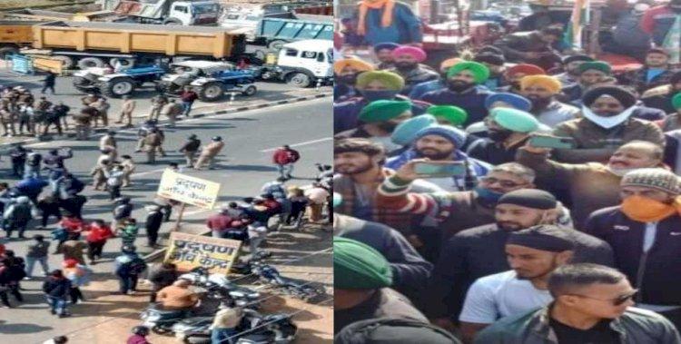 कृषि कानूनों के खिलाफ राजभवन कूच कर रहे किसानों की पुलिस झड़प, देखें वीडियो