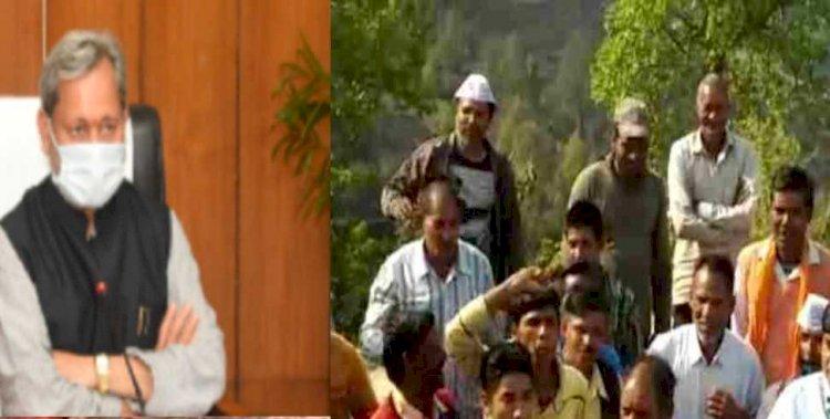 बीरोंखाल: सीएम तीरथ ने दिया  ग्रामीणों को आश्वासन, जल्द होगा सड़क का डामरीकरण