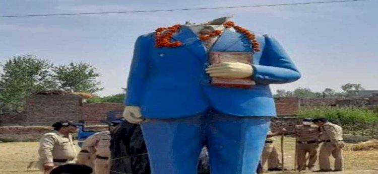 रुड़की: बाबा साहेब डॉ अंबेडकर की मूर्ति असामाजिक तत्वों ने तोड़ी,  ग्रामीणों में आक्रोश