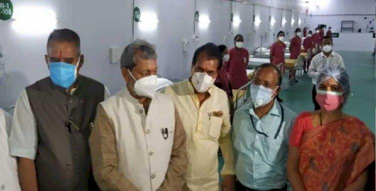 ऋषिकेश: डीआरडीओ ने बनाया आईडीपीएल में 500 बेड का अस्पताल, सीएम ने किया उद्घाटन