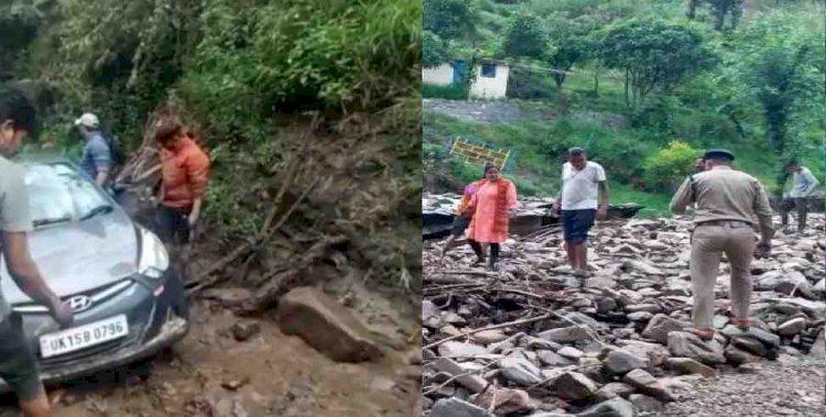 पौड़ी में भारी बारिश से नुकसान, कोई हताहत नहीं
