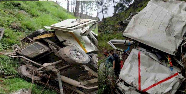 अल्मोड़ा: बोलेरो खाई में गिरी, छ: साल की बच्ची और वाहन चालक ने गंवाई जान