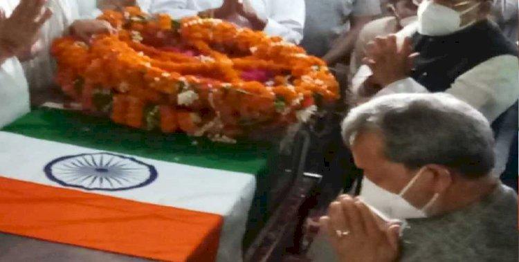 सीएम तीरथ ने हल्द्वानी पहुंचकर दी स्व. इंदिरा हृदयेश को श्रद्धांजलि