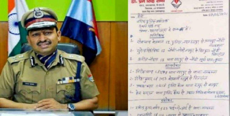 बिग ब्रेकिंग : भाजपा विधायक की सिफारिश पर हुए पुलिसकर्मियों के तबादले निरस्त !