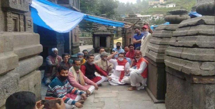 जागेश्वर मंदिर में गुंडई: भाजपा सांसद की गिरफ्तारी पर अड़े पुरोहित